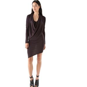 Helmut Lang Feather Dolman Mini Dress Sz S